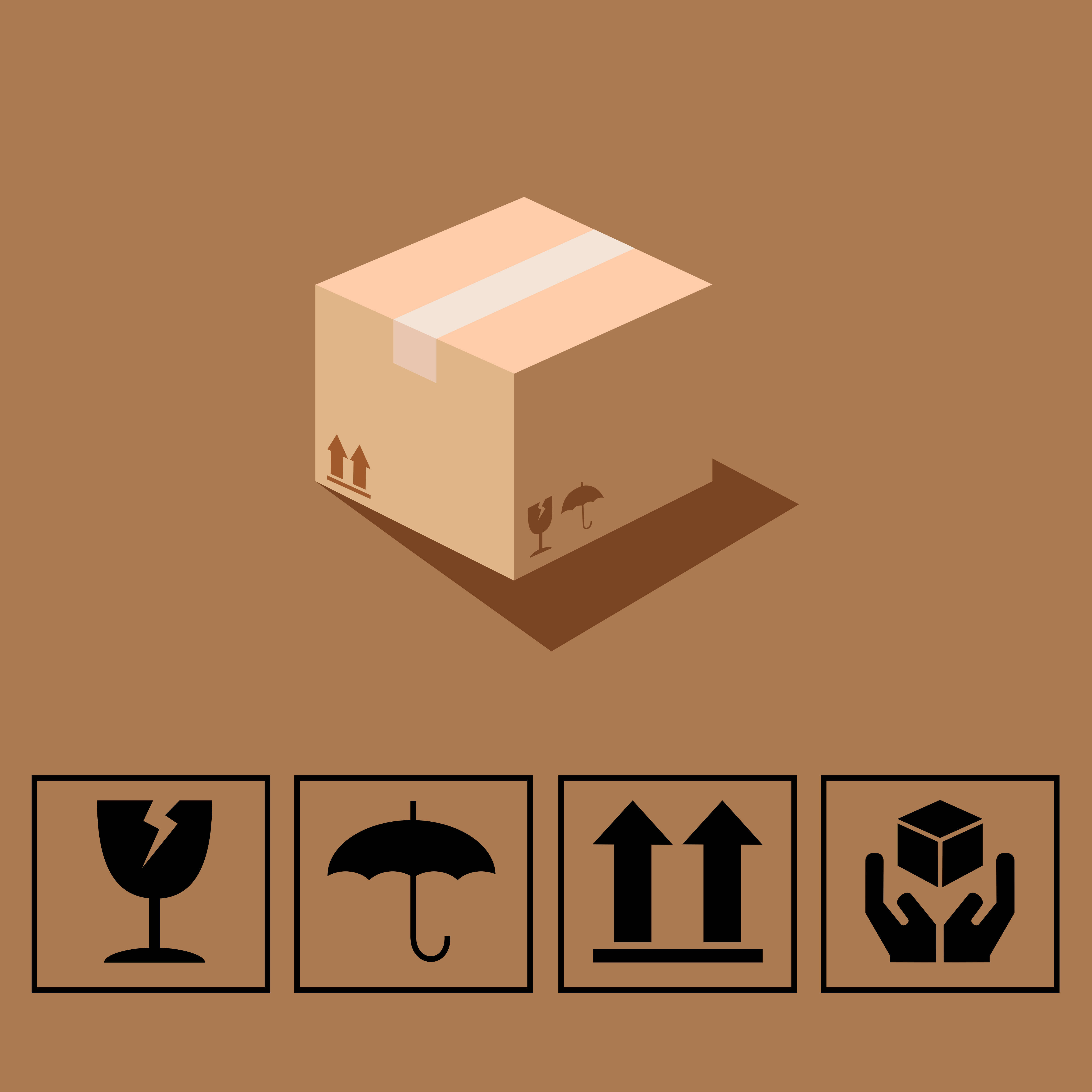 Los símbolos en paquetería